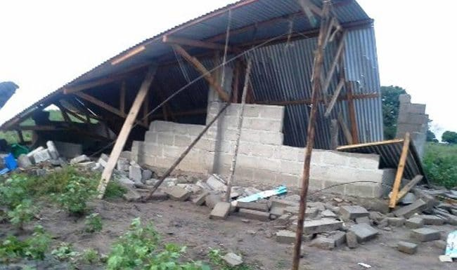 Strong Winds Destroy a New Church in Tanzania