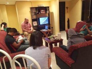 Alex Gulart teaching a Bible study