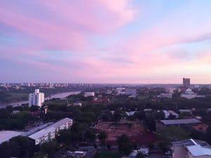 Ciudad del Este at sunset