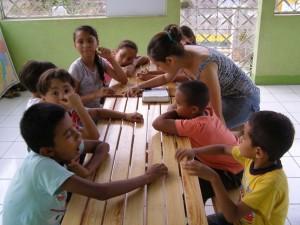 Kids' ministry at Seravallis' home