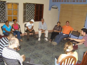 Evening Bible study at Emiliano and Raquel's home in Nagarote