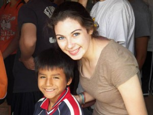 Tasha Reed at the orphanage in Bolivia