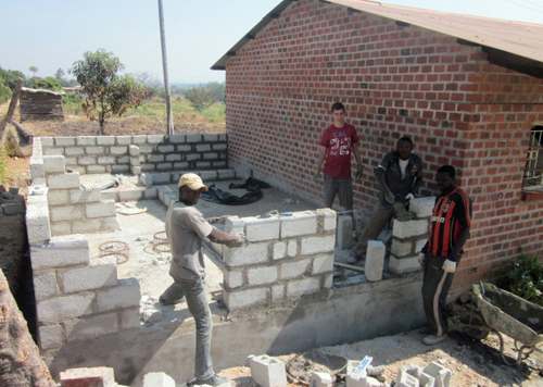 Construction project in Zambia
