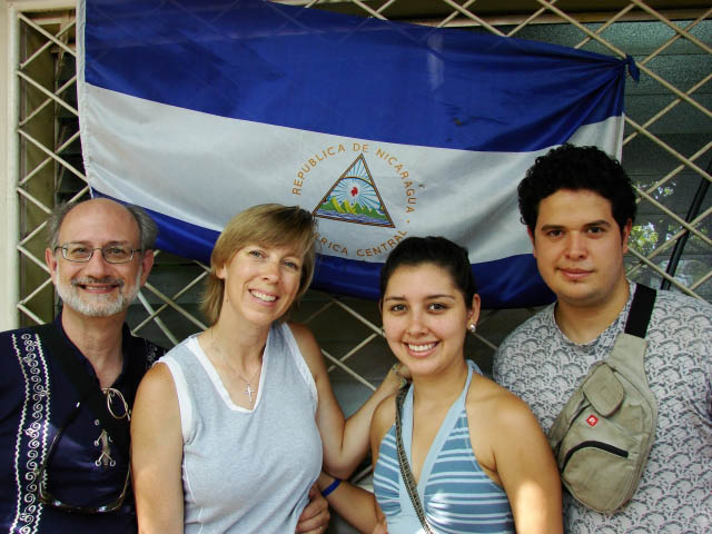 Jeff and Sally Roth, Raquel and Emiliano Seravalli on an introductory trip to Nicaragua