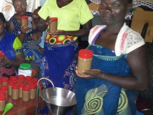 Impoverished Women – Making Peanut Butter