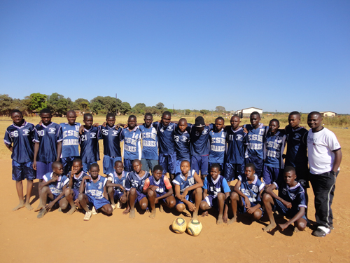 The soccer outreach in Zambia